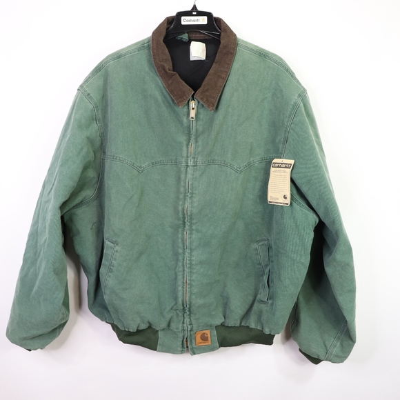 689f90d19c Carhartt Jackets & Coats   Vtg New Mens Full Zip Work Jacket Green ...